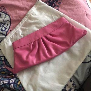 Lauren Merkin pink clutch brand new